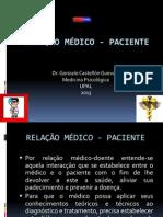 RELAÇÃO MÉDICO - PACIENTE