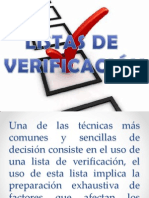 LISTA DE VERIFICACIÓN