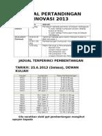 8a_jadual Pertandingan Inovasi 2013 Pelajar