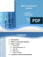 Erp in Construction Company
