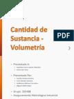 Cantidad de Sustancia - Volumetría (1)