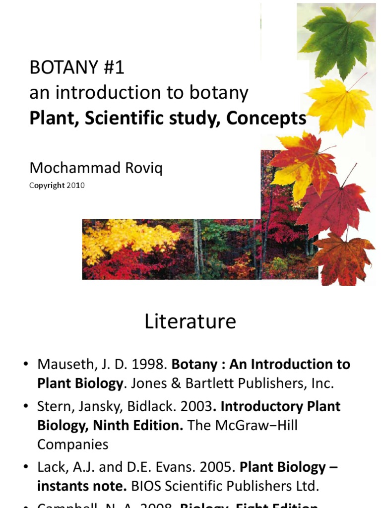 1 Lectr_botany_1 Concepts of Botany an Introducton to Plant Biology   Plants    Experiment