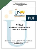 Modulo Sociologia Organizacional