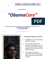 The Affordable Healthcare Act- Powerpoint