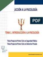 Tema 1. Introducción a la Psicología.