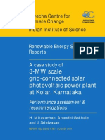 A case study of 3-MW scale grid-connected solar photovoltaic power plant at Kolar,  Karnataka