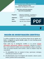 LA CANTUTA - CLASE 2 DE INVESTIGACIÓN CIENTÍFICA