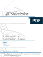 Claims-Based Authentication in SharePoint 2013
