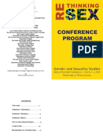 """Rethinking Sex""  Conference Program"