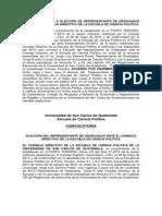 Convocatoria a Elecciones de Representante de Graduados a Consejo Directivo 2013