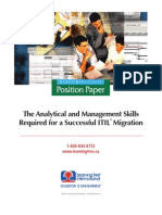 Analytical & Management Skills for a Successful ITIL Migration
