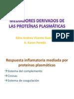 Mediadores derivados de las proteínas plasmáticas