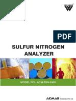 Sulfur Nitrogen Analyzer