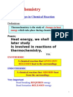 1 Energy Changes in Chemical Reaction