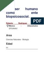 El Ser Humano Como Ente Biopsicosocial