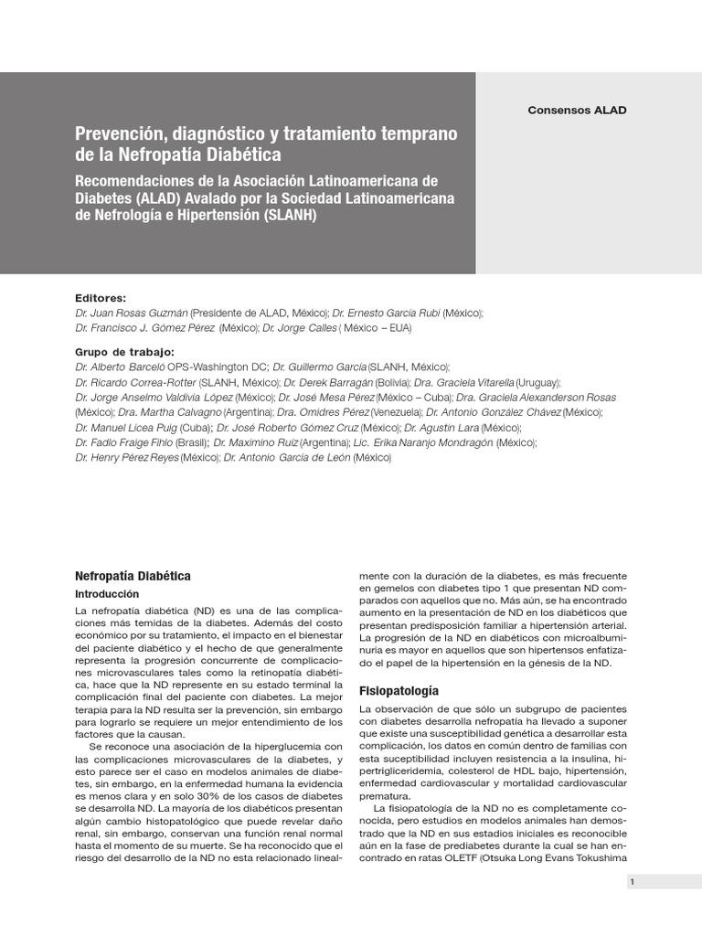 prevención de la nefrotoxicidad por aminoglucósidos de la diabetes