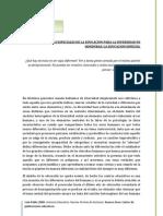 Las Condiciones Especiales de La Educacion Para La Diversidad en Honduras