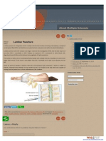 Test for Multiple Sclerosis - Lumbar Puncture