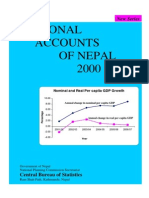 National Accounts Series of Nepal 2000-2007