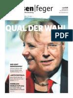 Ausgabe 18/2013 des strassenfeger - Qual der Wahl