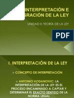 INTERPRETACIÓN E INTEGRACIÓN DE LA LEY