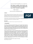 Entrepreneurial Culture, Profile of the Leader and Entrepreneurial Orientation Empirical Application in the Case of the Tunisian Companies