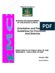 IMCI Orientation and Planning Guidelines for Provinces and Disricts