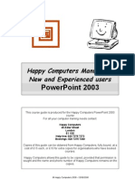 3825752 1 Power Point 2003 New and Experienced Users