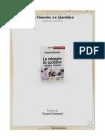 La Memoire Au Quotidien - L Optimiser l Entretenir