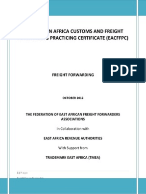 Eacffpc Freight Forwarding Module Training Manual | Tonnage | Cargo