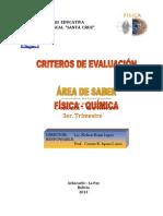 CRITERIOS DE EVALUACIÓN3
