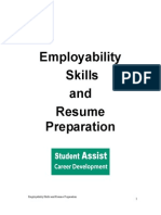 Employability Skills and Resume Preparation