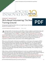 Handout - NVPC - Patsian - SSIR Skills-Based Volunteering as the New Executive Training Ground