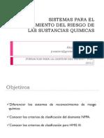 Criterios de clasificación NFPA y HMIS III