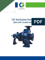 CGL Centrifugal End Suction Pump O & M Manual