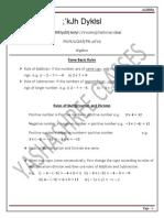 Algebra Semi