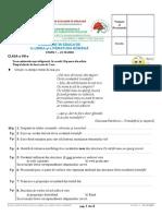 Subiecte ROMANA Clasa8