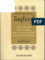 Towards Understanding Taqleed Part 2