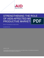 mR 27 - Strengthening the Role of AIDS-Affected MSEs in Productive Markets