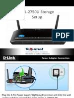 DSL-2750U Storage Setup