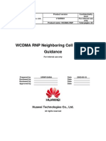 WCDMA RNP Neighboring Cell Planning Guidance