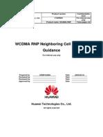 WCDMA RNP Neighboring Cell Planning Guidance