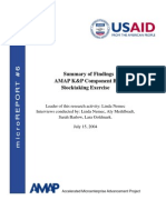 mR 6 - Summary of Findings AMAP Knowledge & Practice Component B Stocktaking Exercise