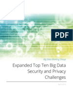 Big Data - Ten Security:Privacy Challenges