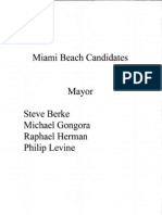 Candidates For Miami Beach Mayor