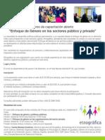 """Curso de capacitación abierto """"Enfoque de Género en los sectores público y privado"""""""