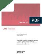 Pluralismo jurídico legitimidade e acesso à justiça_CES
