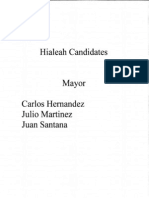 Candidates For Hialeah Mayor