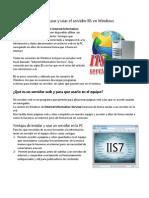 Guía para utilizar el servidor web IIS