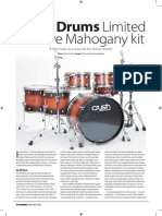 Crush Drums Limited Reserve Mahogany review in Drummer Magazine